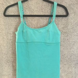 Lululemon Teal Ribbed Tank Top